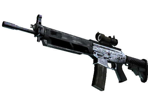 SG 553   Damascus Steel (Factory new)
