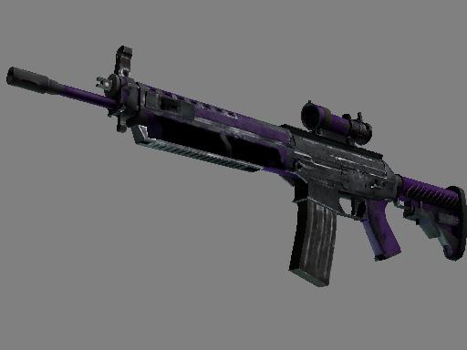 SG 553 | Ultraviolet (Battle-Scarred)