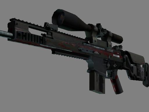 SCAR-20   Crimson Web (Battle-Scarred)