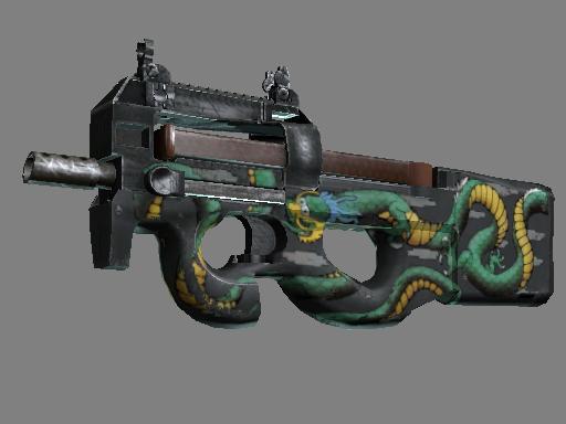 P90 | Emerald Dragon (Field-Tested)