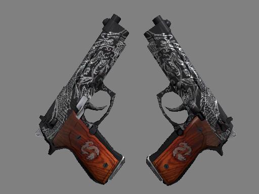 Dual Berettas   Dualing Dragons (Field-Tested)