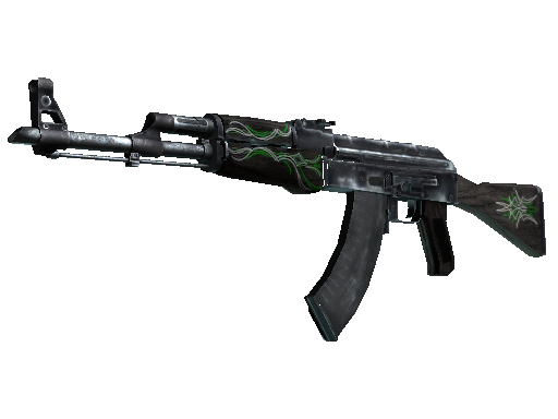 AK-47 | Emerald Pinstripe (Well-Worn)