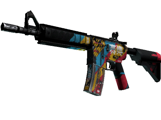 M4A4   Cyber Security (Battle-Scarred)