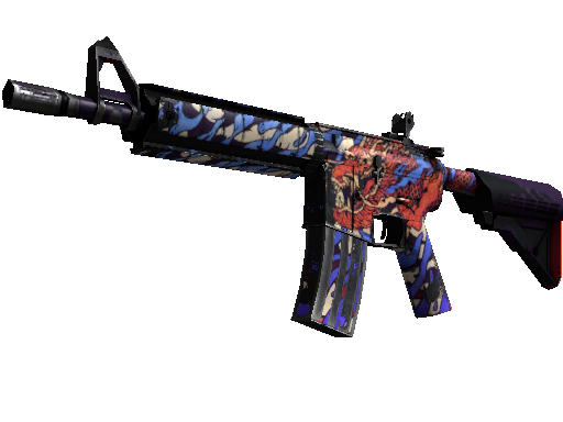 M4A4 | 龍王 (Dragon King) (Well-Worn)