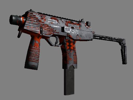 MP9 | Setting Sun (Battle-Scarred)