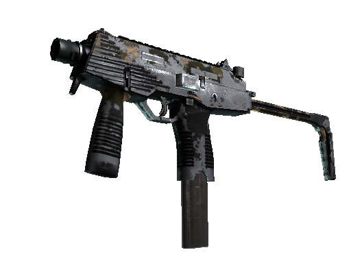 MP9 | Black Sand (Battle-Scarred)