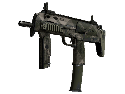 MP7 | Olive Plaid (Well-Worn)