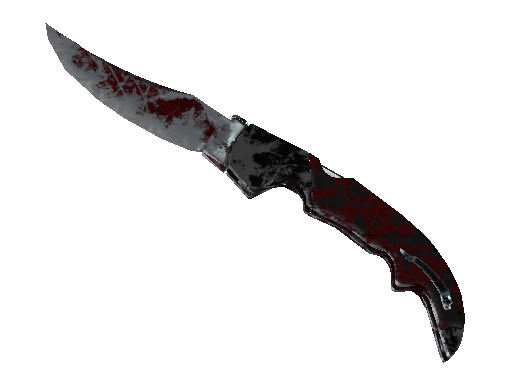 Falchion Knife | Crimson Web (Battle-Scarred)