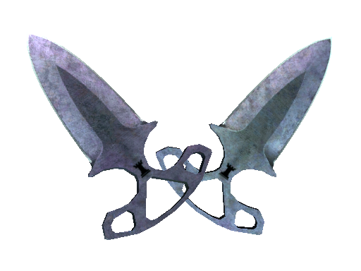Shadow Daggers | Blue Steel (Battle-Scarred)