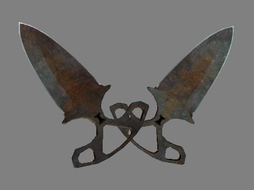 Shadow Daggers | Rust Coat (Battle-Scarred)