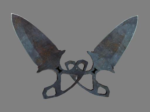 Shadow Daggers | Rust Coat (Well-Worn)
