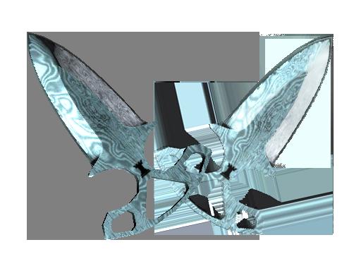 Shadow Daggers | Damascus Steel (Field-Tested)