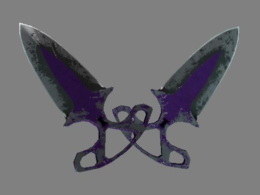 Shadow Daggers | Ultraviolet (Battle-Scarred)