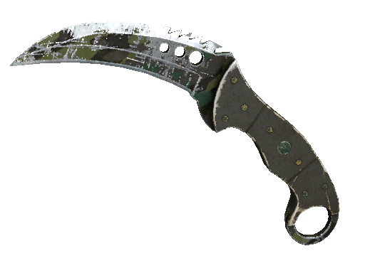 Talon Knife | Boreal Forest (Battle-Scarred)