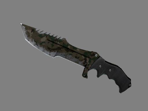 Huntsman Knife   Forest DDPAT (Battle-Scarred)