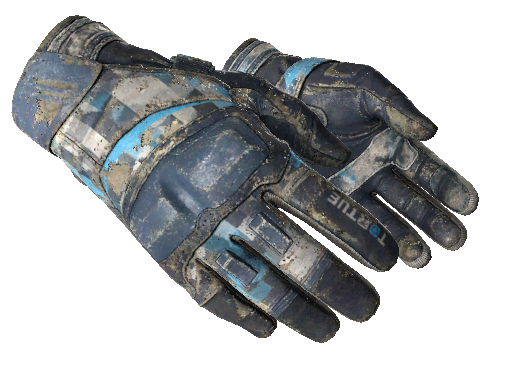 Moto Gloves | Cool Mint (Battle-Scarred)