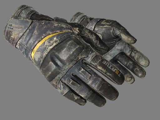Moto Gloves | Eclipse (Battle-Scarred)