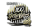 Sticker | 100 Thieves (Gold) | 2020 RMR