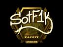 Sticker | S0tF1k (Gold) | London 2018