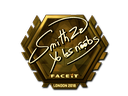 Sticker | SmithZz (Gold) | London 2018