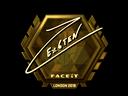 Sticker   Ex6TenZ (Gold)   London 2018