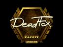 Sticker | DeadFox (Gold) | London 2018