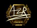 Sticker   AZR (Gold)   London 2018