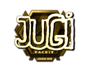 Sticker | JUGi (Gold) | London 2018