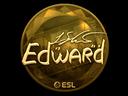 Sticker   Edward (Gold)   Katowice 2019