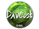 Sticker   DavCost (Foil)   Katowice 2019
