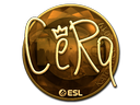 Sticker   CeRq (Gold)   Katowice 2019