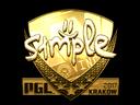 Sticker   s1mple (Gold)   Krakow 2017