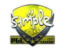 Sticker   s1mple (Foil)   Krakow 2017