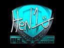 Sticker   HEN1 (Foil)   Krakow 2017