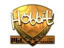 Sticker   Hobbit (Gold)   Krakow 2017