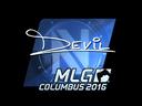 Sticker | DEVIL (Foil) | MLG Columbus 2016