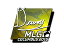 Sticker | DAVEY (Foil) | MLG Columbus 2016