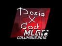 Sticker   Dosia (Foil)   MLG Columbus 2016