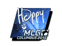 Sticker   Happy (Foil)   MLG Columbus 2016
