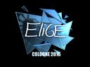 Sticker   EliGE (Foil)   Cologne 2016