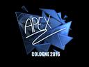 Sticker | apEX (Foil) | Cologne 2016