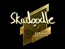 Sticker   Skadoodle (Gold)   Boston 2018