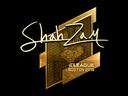 Sticker   ShahZaM (Gold)   Boston 2018