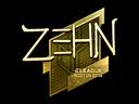 Sticker | zehN (Gold) | Boston 2018