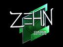 Sticker | zehN (Foil) | Boston 2018