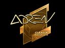 Sticker   AdreN (Gold)   Boston 2018
