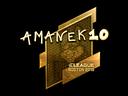 Sticker | AmaNEk (Gold) | Boston 2018