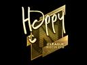 Sticker   Happy (Gold)   Boston 2018