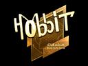 Sticker   Hobbit (Gold)   Boston 2018