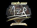 Sticker   AZR (Gold)   Berlin 2019